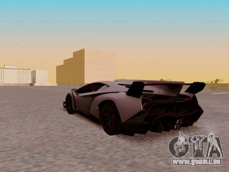 Lamborghini Veneno für GTA San Andreas Rückansicht