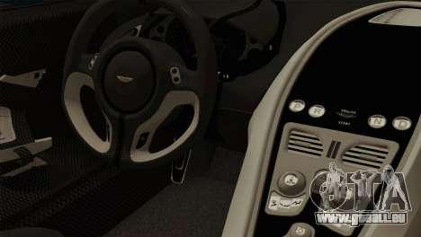 Aston Martin One 77 2010 pour GTA San Andreas vue de droite