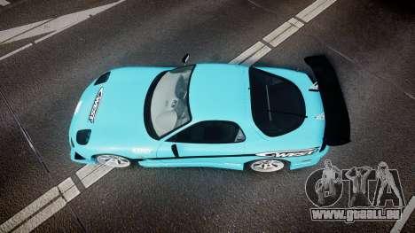 Mazda RX-7 C-West pour GTA 4 est un droit