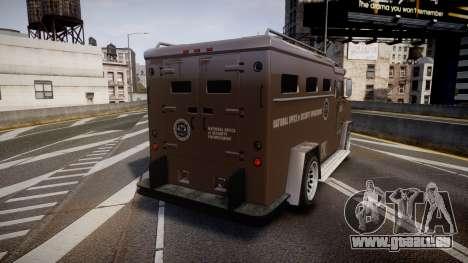 GTA V Brute Police Riot für GTA 4 hinten links Ansicht