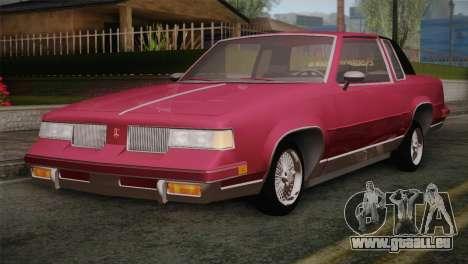 Oldsmobile Cutlass 1987 v2.2 pour GTA San Andreas