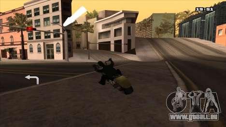 GPS-Navigator mit russischer Sprache für GTA San Andreas dritten Screenshot