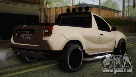 Dacia Duster Pickup 2014 pour GTA San Andreas laissé vue