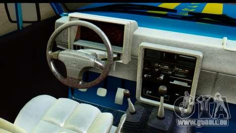 Nissan Junior 1982 Pickup Towtruck pour GTA San Andreas vue intérieure
