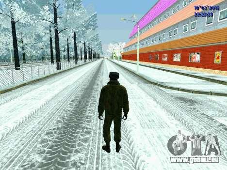 Pak militaire de la Fédération de russie en hive pour GTA San Andreas deuxième écran