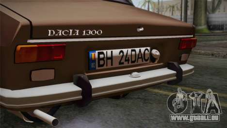 Dacia 1300 Biharia für GTA San Andreas Rückansicht