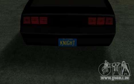 K.i.T.T. 2000 für GTA San Andreas rechten Ansicht