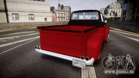 GTA V Vapid Slamvan pour GTA 4 Vue arrière de la gauche