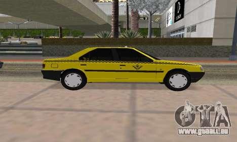 Peugeot 405 Roa Taxi pour GTA San Andreas sur la vue arrière gauche