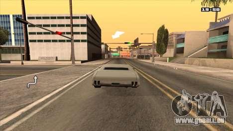 Navigateur GPS avec la voix de la russie pour GTA San Andreas deuxième écran