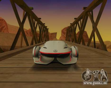 Mercedes-Benz Silver Arrows für GTA San Andreas Rückansicht