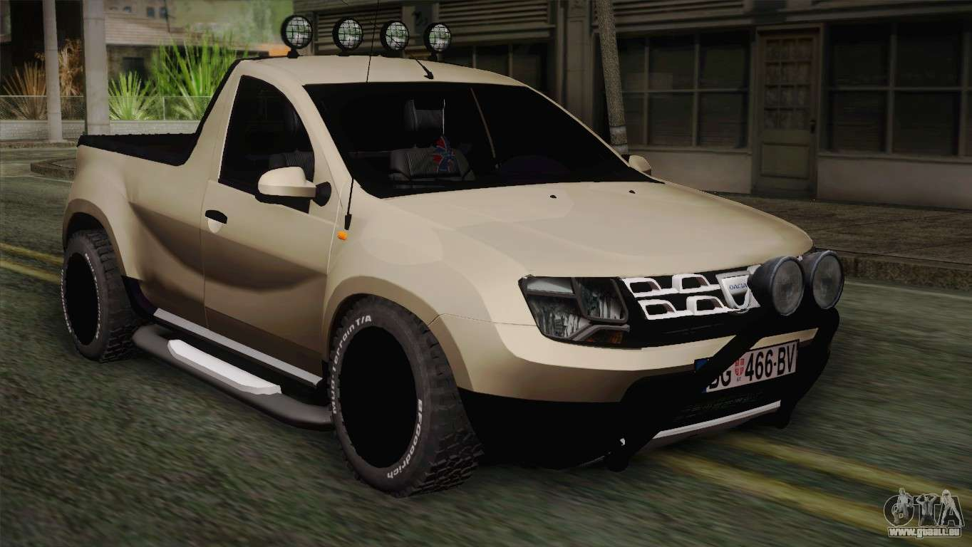 dacia duster pickup 2014 pour gta san andreas. Black Bedroom Furniture Sets. Home Design Ideas