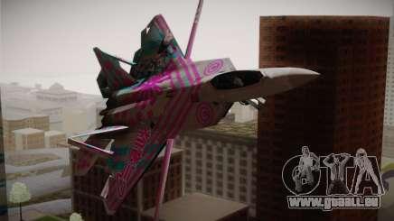 F-22 Raptor Hatsune Miku für GTA San Andreas