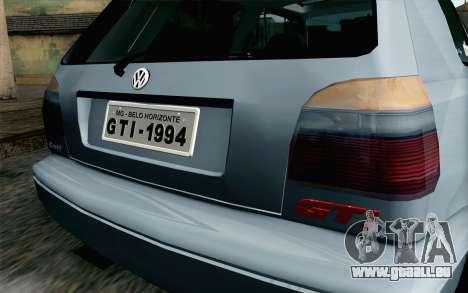 Volkswagen Golf Mk3 Eurolook pour GTA San Andreas vue arrière