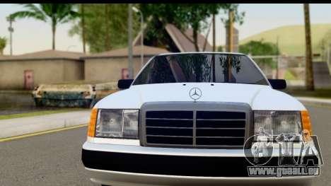 Mercedes Benz E320 W124 Coupe für GTA San Andreas zurück linke Ansicht