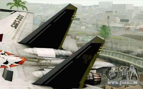 Sukhoi SU-27 Macross Frontier pour GTA San Andreas sur la vue arrière gauche
