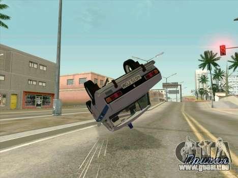 Moskvich 2140 Police pour GTA San Andreas vue de côté