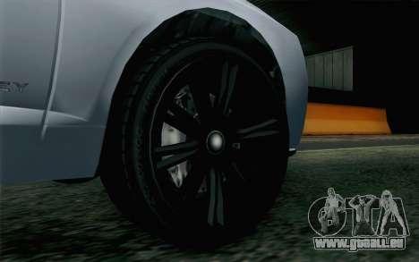 GTA 5 Obey Tailgater v2 IVF pour GTA San Andreas sur la vue arrière gauche