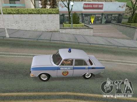 Moskvich 2140 Police pour GTA San Andreas vue de droite
