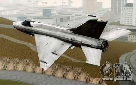 MIG-21MF Vietnam Air Force pour GTA San Andreas laissé vue