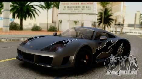 Noble M600 2010 HQLM für GTA San Andreas Unteransicht