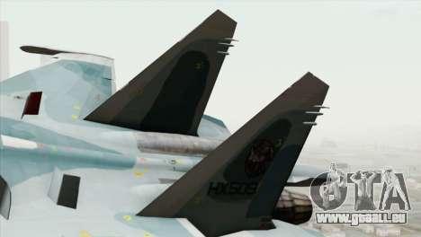 Sukhoi SU-27 PMC Reaper Squadron für GTA San Andreas zurück linke Ansicht