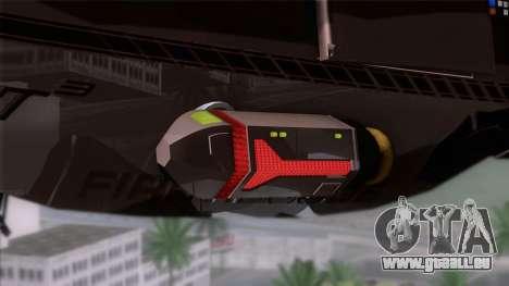 Shuttle v1 (wheels) pour GTA San Andreas sur la vue arrière gauche