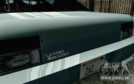 Sultan Lan Evo pour GTA San Andreas sur la vue arrière gauche