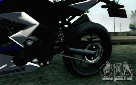 Kawasaki Ninja 250RR Mono White für GTA San Andreas zurück linke Ansicht