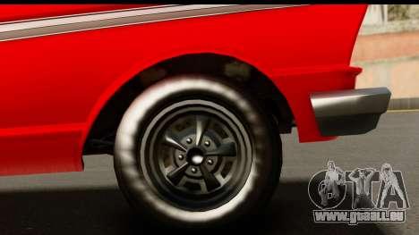 GTA 5 Vapid Blade v2 IVF für GTA San Andreas Rückansicht
