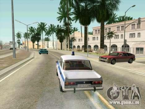 Moskvich 2140 Police pour GTA San Andreas vue intérieure