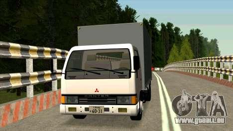 Mitsubishi Fuso Canter 1989 Aluminium Van für GTA San Andreas linke Ansicht