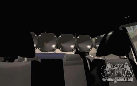 Volkswagen Fox pour GTA San Andreas vue arrière