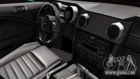 Ford Mustang GT Wheels 2 pour GTA San Andreas vue de droite