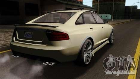 GTA 5 Obey Tailgater SA Mobile für GTA San Andreas linke Ansicht