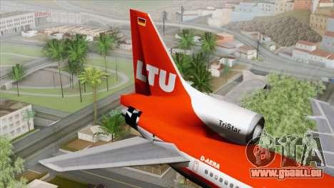 Lookheed L-1011 LTU Intl für GTA San Andreas zurück linke Ansicht