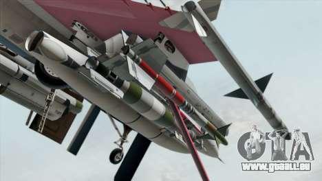 YF-16 Fighting Falcon pour GTA San Andreas vue de droite