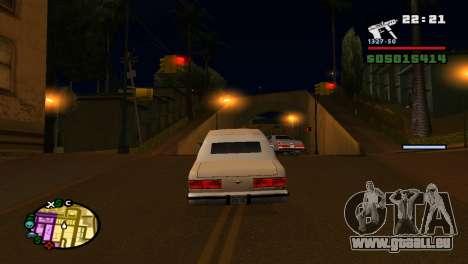 Pour augmenter ou diminuer le radar dans GTA V pour GTA San Andreas sixième écran