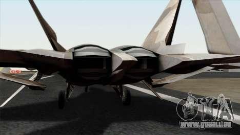 F-22 Raptor 02 für GTA San Andreas Rückansicht