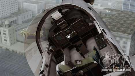 Embraer A-29B Super Tucano Marines für GTA San Andreas Rückansicht