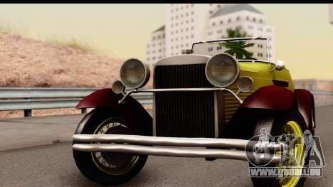 Ford A 1928 pour GTA San Andreas sur la vue arrière gauche