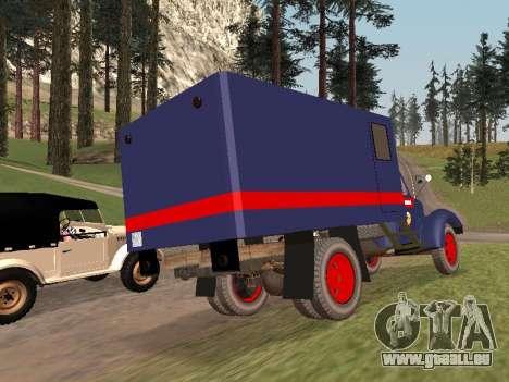ZIL 157 de la police pour GTA San Andreas sur la vue arrière gauche