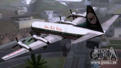 L-188 Electra Cathay P für GTA San Andreas linke Ansicht