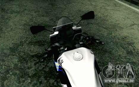Kawasaki Ninja 250RR Mono White für GTA San Andreas rechten Ansicht