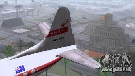 L-188 Electra Qantas pour GTA San Andreas sur la vue arrière gauche