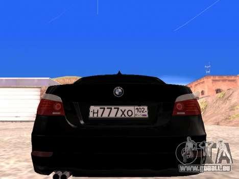 BMW 525i (e60) pour GTA San Andreas vue de droite