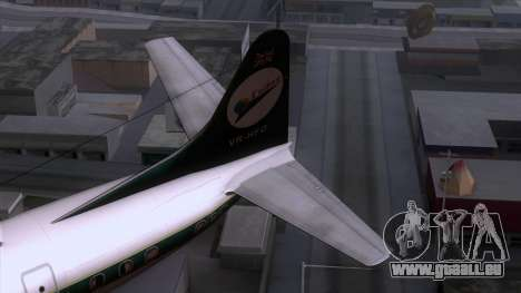 L-188 Electra Cathay P pour GTA San Andreas sur la vue arrière gauche
