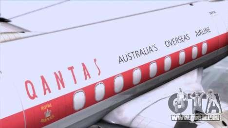L-188 Electra Qantas für GTA San Andreas Rückansicht