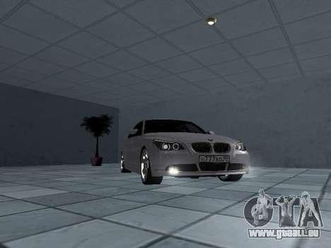 BMW 525i (e60) pour GTA San Andreas vue arrière