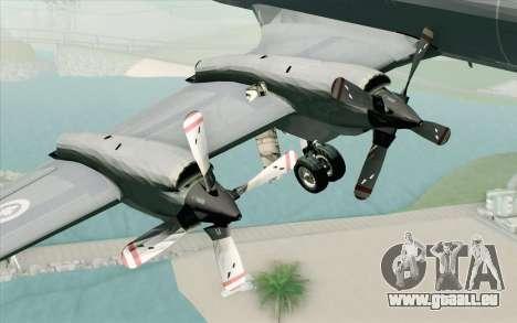 Lockheed P-3 Orion RCAF für GTA San Andreas rechten Ansicht